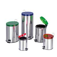 Buy cheap Dailyart Stainless Steel round trash Can with Lid removable inner bucket V011036 from wholesalers