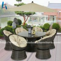 China Outdoor Dining Round Patio Table And Chairs Set on sale