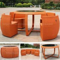China Outdoor Dining Wicker Patio Table And Chairs on sale