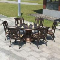 China Outdoor Dining Cast Aluminum Patio Furniture 7 Piece Dining Set Item No.: PL-0040 on sale