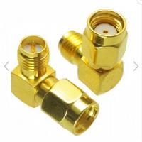 China RP-SMA Male to RP-SMA Female Adapter Right Angle RF Connector on sale