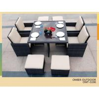 China Rattan Garden Furniture set and 4 Chairs rattan Dining Table sets OMR-G186 on sale