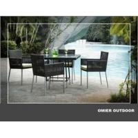 China Small round rattan patio table and chair sets OMR-G088 on sale