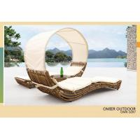 Buy cheap 2013 New Style sun lounger with shade outdoor wicker sun lounger OMR-S097 from wholesalers