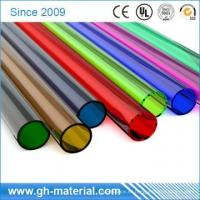 Buy cheap Transparent Thin Wall Plastic PVC Round Pipe Poly Rigid Tubing from wholesalers