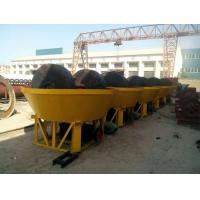 China Small Double Wheel Wet Mill For Rock Gold on sale