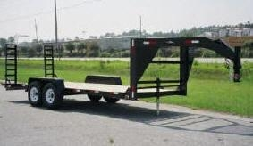 Cheap Fifth Wheel Tandem Axle Equipment Trailers for sale