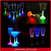 China LED Light Glass Wine Cups for Bar Festival Party on sale