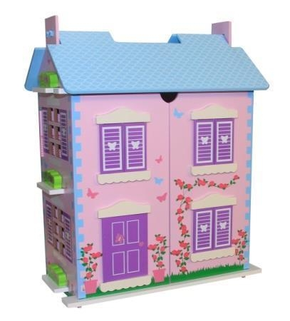 Cheap Wooden Open Dollhouse for sale