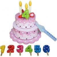 Buy cheap Wooden Cutting Birthday Cake Toy from wholesalers