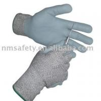 China Nmsafety glass fiber and nylon coated foam nitrile cut resident gloves on sale