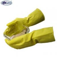 China NMSAFETY long cuff household yellow latex rubber gloves for wash use on sale