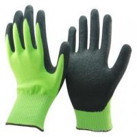 Quality NMSAFETY hi-viz yellow sandy nitrile dipped cut resistant gloves wholesale