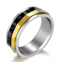 Quality Jewelry Rings Gold Plated Titanium Steel Rings for Man wholesale