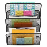 Buy cheap EasyPAG 3 Tier Assembly Mesh Wall File Pocket Hanging File Organizer Holder from wholesalers