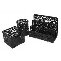 Buy cheap EasyPAG Carved Hollow Flower Pattern 3 in 1 Desk Organizer Set -Sticky Note Holder from wholesalers