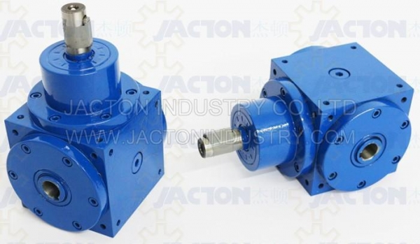 China JTP140 Hollow Shaft Right Angle 1 To 1 Ratio Gearbox