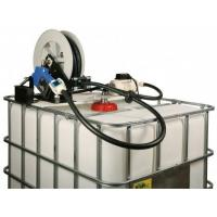 "Quality Manual 8 GPM DEF IBC Tote system w/ 3/4"" x 25' Hose reel 