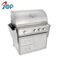 China 34 Stainless Steel Indoor BBQ LPG Gas Grill on Cart on sale