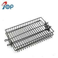 China Cheap Black Nonstick Steel BBQ Grill Rotisserie Spit Rod Basket on sale