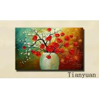 China 11-Hand-painted-oil-paintings Red Star Flowers on sale