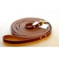 Quality Leather Tracking Lead  a LONG premium leather dog leash wholesale