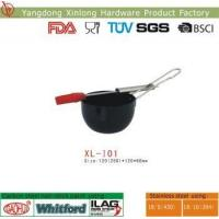 Quality non stick bbq sauce pot with silicon brush wholesale