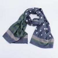 Similar Cotton Touching Double Sided Printing Small Dots & Stripe Printed Desinable Scarf