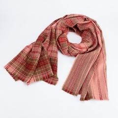 Cheap Similar Wool Touching Plaid Pattern Double Sided Solid Color Best Seller Scarf for sale
