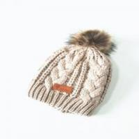 Quality Cap Unisex Elastic Lovely Cat Custom Knitted Hat With Pom wholesale