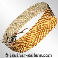 Cheap Small Leather Goods Leather Knitted Belts. for sale