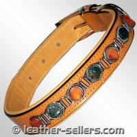 Quality Pet Products Leather Collar Conicals Bead. wholesale
