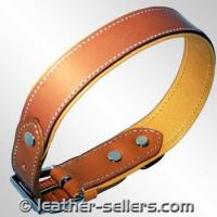 Quality Pet Products Leather Bord Collar Plain. wholesale
