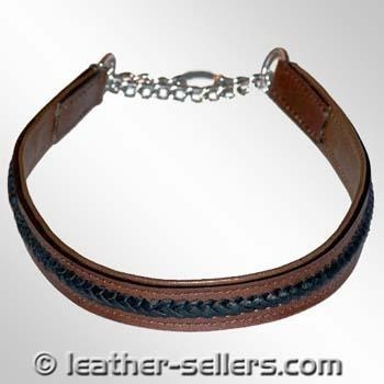 Cheap Pet Products Flat Chock Knitted with Chain. for sale