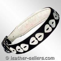 Quality Pet Products Leather Collar Heart Design. wholesale
