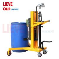 Quality 450KG Pedaled Operation Hydraulic Drum Truck with Scale, Drum Carrier wholesale