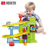 Quality Promotional Battery Operated Building Block Baby Cartoon Train Track Toys wholesale