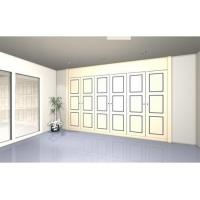 Quality Retractable wardrobe with 6 lacquered doors. Model BR3 wholesale