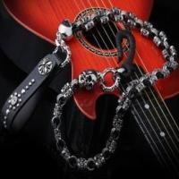 China Biker Skull Leather Wallet Chain SC12-254 on sale