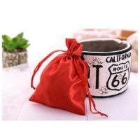 China Professional Custom Jewelry Satin Bag Silk Satin Jewelry Drawstring Pouch on sale