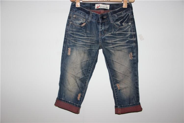 Cheap Ladies3/4 Cotton +jean Pants for sale