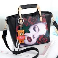 Buy cheap EMC030 special design bags with cute doll flowers pattern women handbag from wholesalers