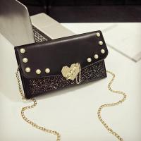 Quality MCB006 women pearl bags Pu leather crossbody bags sequined Glitter purse Lady Clutch wholesale
