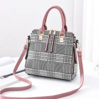 Buy cheap EMC029-1 popular styles with checked pattern pu leather tote bag for female from wholesalers
