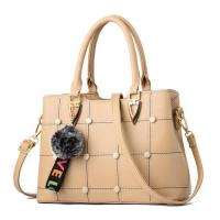 EMC023 china product PU leather frame criss-cross handbags with feathers decorative