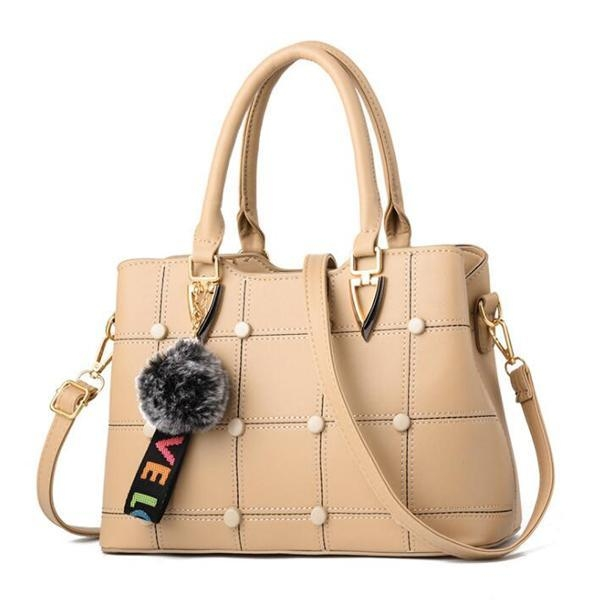 Cheap EMC023 china product PU leather frame criss-cross handbags with feathers decorative for sale