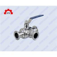 Quality sanitary quick assembling 3 way ball valve wholesale