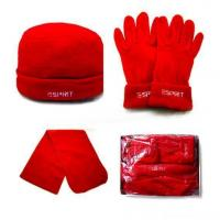 Quality scarf glove and hat set wholesale