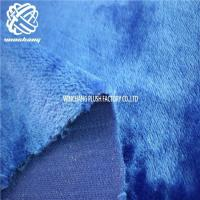 China royal blue polyester short pile faux boa fur on sale