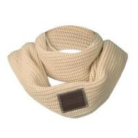custom logo soft touch winter knitted women scarf